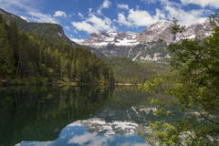 Italian lake and alps Royalty Free Stock Photography