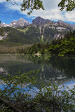 Italian lake and alps Royalty Free Stock Images