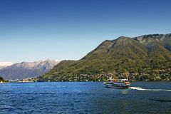 Italian lake Como Stock Photo