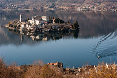 Italian lake district landscape Stock Photography