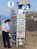 Italian Lakes Ferry Terminal Worker Royalty Free Stock Image