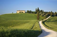 Italian landcape. A nice view of landscape in tuscany Royalty Free Stock Photography