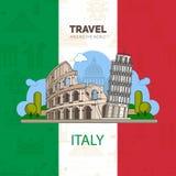 Italian landmarks, historic architecture Royalty Free Stock Photography