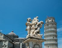 Italian landmarks. Pisa tower and cathedral Royalty Free Stock Images