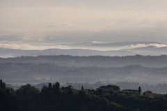 Italian landscape. Typical Italian landscape in Tuscany Stock Images
