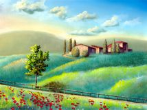 Italian landscape royalty free illustration