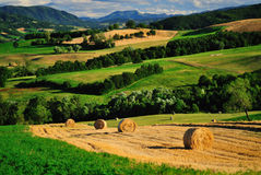 Italian landscape. Beautiful landscape of Parma countryside, Italy royalty free stock images