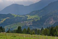 Green Alpine landscape Stock Images
