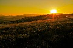 Free Italian Landscape At Sunset Royalty Free Stock Photos - 24731558