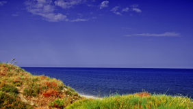 Italian landscape. With a beautiful sea and a blue sky Royalty Free Stock Image