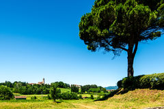 Italian landscape Brianza Lombardy Royalty Free Stock Image