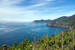 Italian landscape - Cinque Terre, Five Lands. Royalty Free Stock Photography