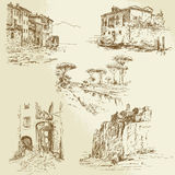 Italian landscape royalty free illustration