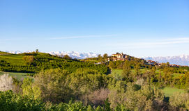 Italian landscape: the hill around the village of Belvedere Lang Royalty Free Stock Images