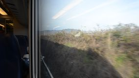 Italian landscape seen from the train stock video footage