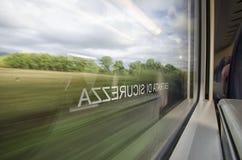 Italian landscape seen through the window Stock Photography
