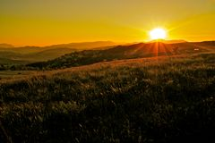 Italian landscape at sunset Royalty Free Stock Photos
