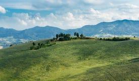 Italian landscape in Tuscany. Typical Italian landscape in Tuscany Royalty Free Stock Photo