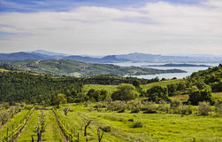 Italian landscape from Umbria Stock Image