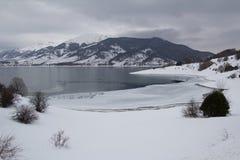 Italian landscape winter lake Royalty Free Stock Photos
