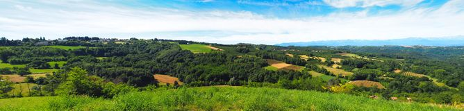 Italian langhe's view. Panorama langhe's view on south Pedmont in Italy Royalty Free Stock Images