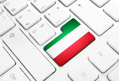 Italian language or Italy web concept. National flag enter butto Royalty Free Stock Photos
