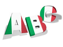 Abc Italian School Concept Royalty Free Stock Image