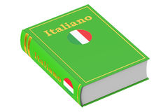 Italian language textbook, 3D rendering Royalty Free Stock Image