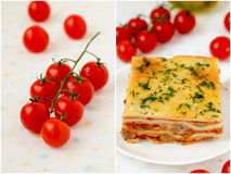 Italian lasagna. Royalty Free Stock Images