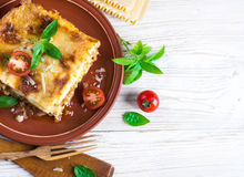 Italian lasagna royalty free stock images