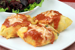 Italian lasagna rolls Stock Photos