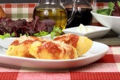 Italian lasagna rolls Royalty Free Stock Photos
