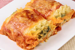 Italian lasagna rolls Stock Photo