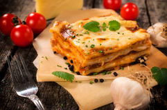 Italian lasagna Royalty Free Stock Photo