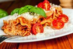Italian lasagne with tomato Royalty Free Stock Photography