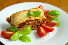 Italian lasagne Stock Photography