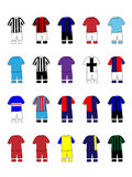 Italian League Clubs Kits 2013-14 Royalty Free Stock Photography