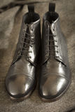 Italian Leather Boots Stock Photography