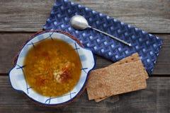 Italian lentils soup Stock Photography