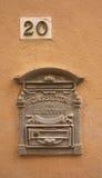 Italian Letterbox. Letterbox on a wall in Massa Marittima, Tuscany, Italy Royalty Free Stock Photo