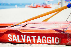 Italian lifeguard boat Stock Photos