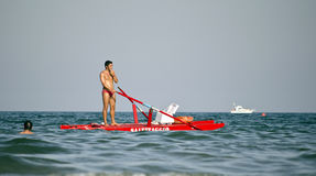Italian lifeguard Stock Images