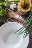 Italian lifestyle - prepare for cooking Royalty Free Stock Photography