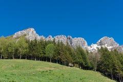 Italian limestone mountains Stock Photos