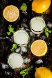 Italian liqueur limoncello royalty free stock images