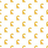 Italian lira currency symbol pattern cartoon style. Italian lira currency symbol pattern. Cartoon illustration of Italian lira currency symbol vector pattern for Stock Photography
