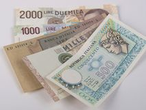 Italian liras Royalty Free Stock Photo