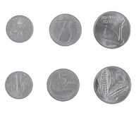 Italian liras coin Stock Images