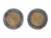 Italian liras coin Royalty Free Stock Photo