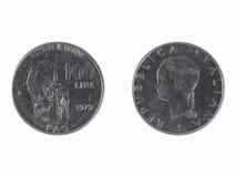 100 Italian liras coin Stock Photography